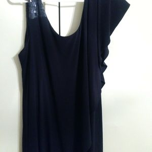 Navy blue sequin dress